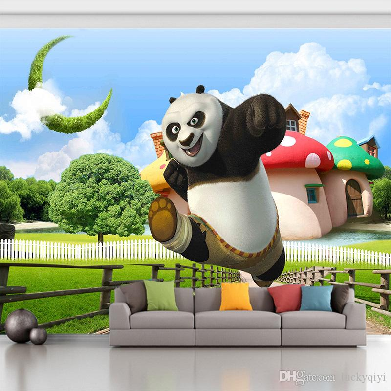 3d Tv Sofa Background Wall Mural Wallpaper Cartoon Pattern Kung Fu Panda Stereo Wall Painting Child Room Poster Wall Cover Hd Wallpapers Free Hd Wallpapers Hd From Luckyqiyi 7 06 Dhgate Com