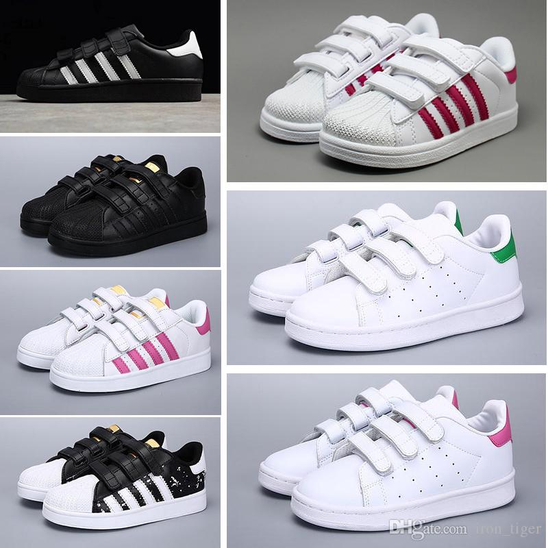 Adidas Superstar   2017 Originales Superstar Holograma Blanco Iridiscente Junior Superstars 80s Pride Sneakers Super Star Mujeres Niños Deporte casual