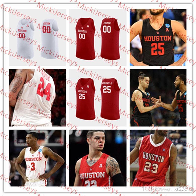 2021 Custom Houston Cougars Basketball Jersey DeJon Jarreau ...