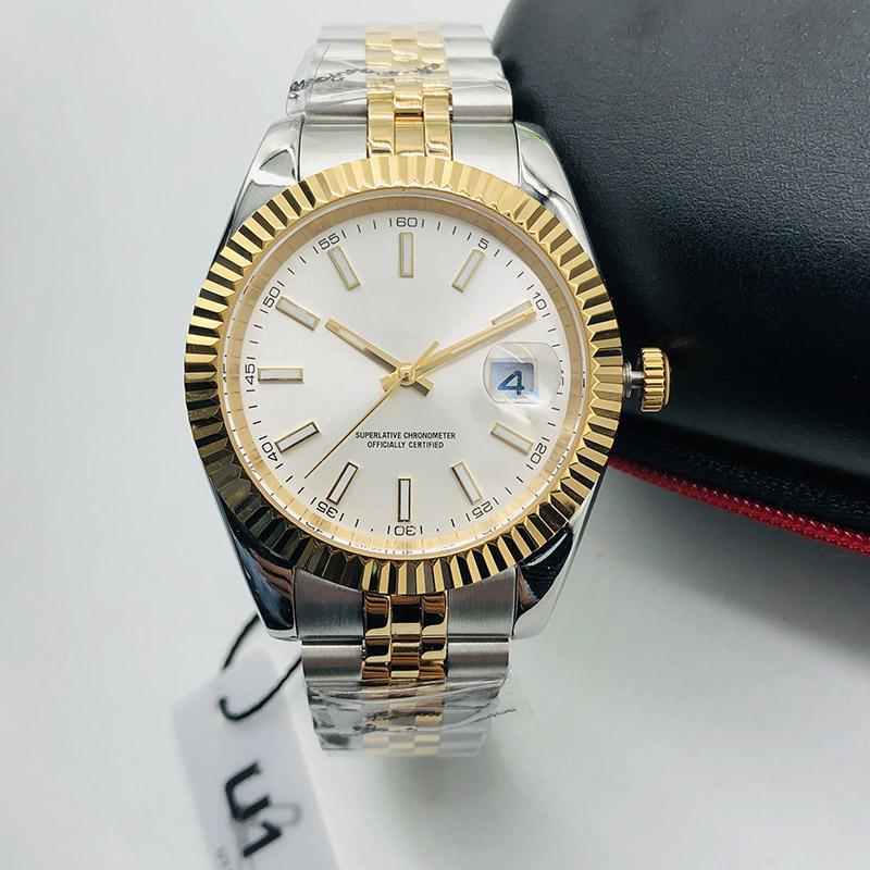 Orologi Mens meccanico automatico 41MM bracciale in acciaio inossidabile completa Data orologio U1 superiore polso Zaffiro Super luminoso