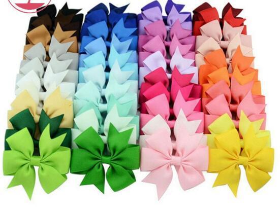 40 الألوان طفلة الشعر الانحناء كاندي الألوان 8CM القوس تصميم فتاة كليبرز بنات مقاطع الشعر الشعر الملحقات
