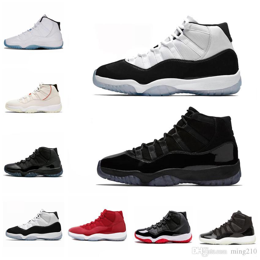 Nike Air Jordan 11 s mens basketbol ayakkabı sneakers yeni concord 45 platin tonu uzay reçel jimnastik salonu kırmızı gibi 96 XI tasarımcı sneakers ...