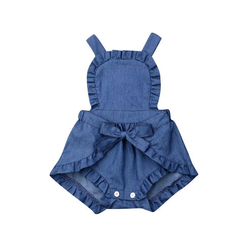 0-24M miúdo recém-nascido bebés Roupa Ruffle Macacões Backless Romper elegantes Jumpsuit bonito sunsuit Conjuntos de algodão