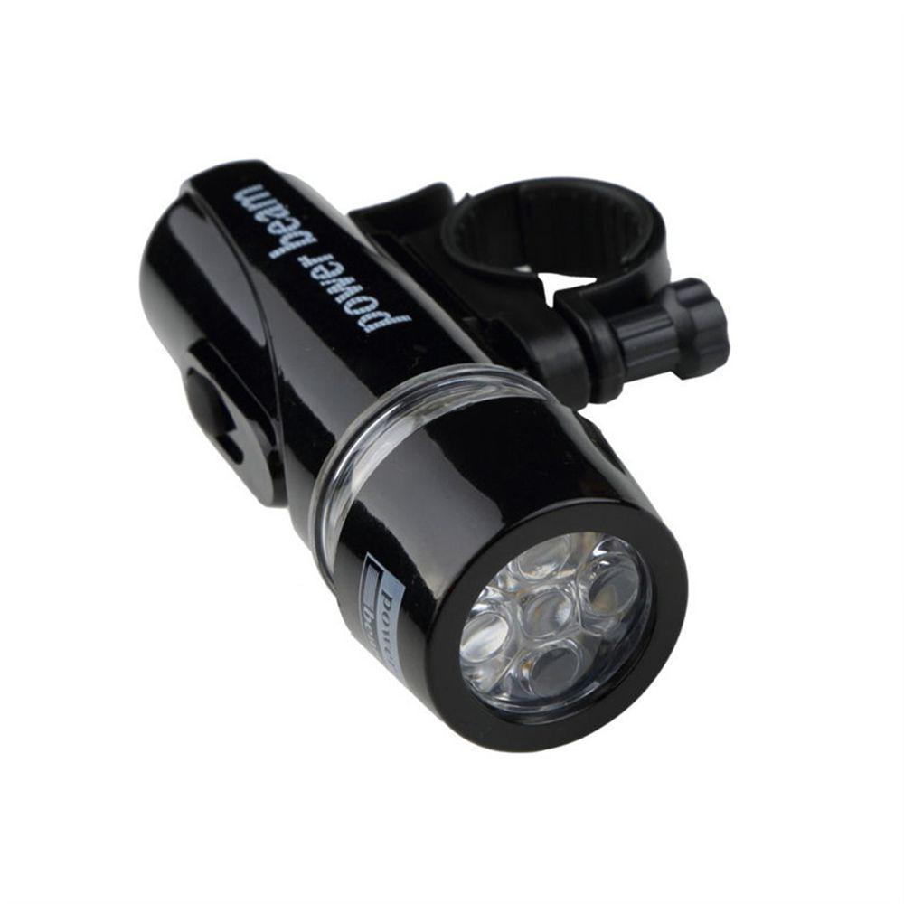 Sekinew Bike Bicycle 5 Led Power Beam Front Head Light Headlight Torch Lamp Black Interior Accessories Ornaments