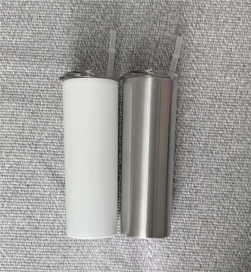 Fai da te sublimazione magro bicchiere 20 oz in acciaio inox sottile tumbler tumbler rette vuoto isolato tazza di viaggio miglior regalo