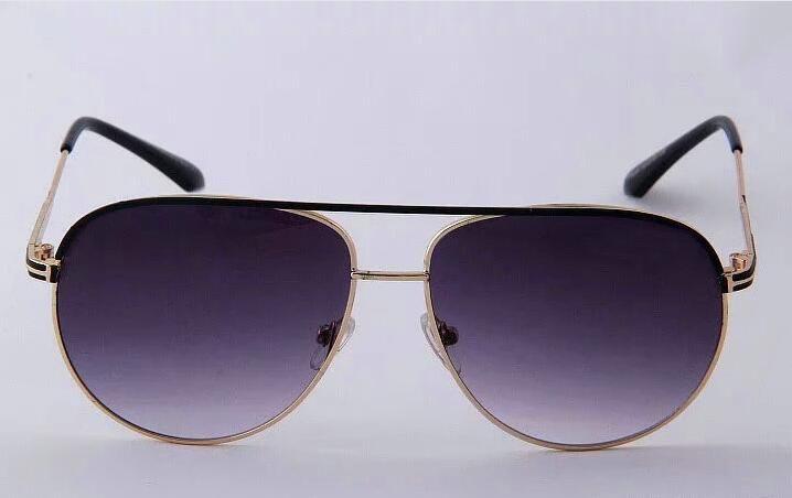 Haute qualité lunettes de soleil Tom Designer d'or des lunettes de soleil miroir Frame Mode Lunettes de Soleil UV Ford Mens lunettes de soleil pilote verre solaire classique