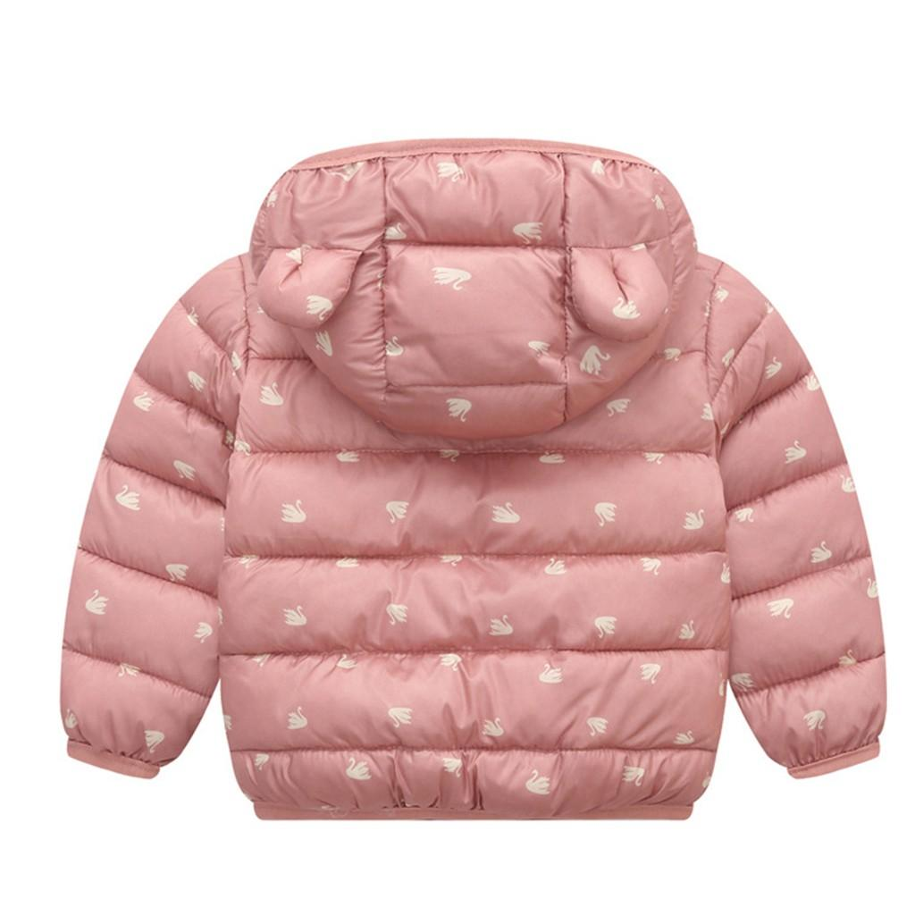 Baby Girls Boys Winter Coats 2019 Winter Infant Hooded Jacket For Girls Zip Thick Ears Kids Baby Snow Coat Outwear Autumn