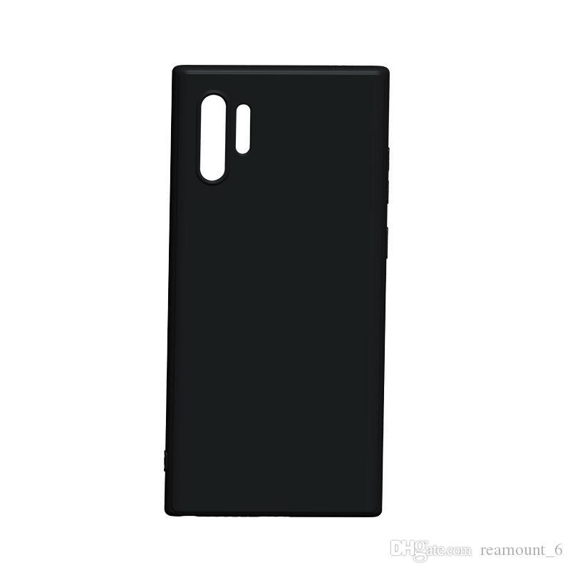 Matte souple en TPU pour Samsung M10 M20 M30 A9 A8 2018 en caoutchouc noir uni de la peau A8 étoiles A8 plus Coque