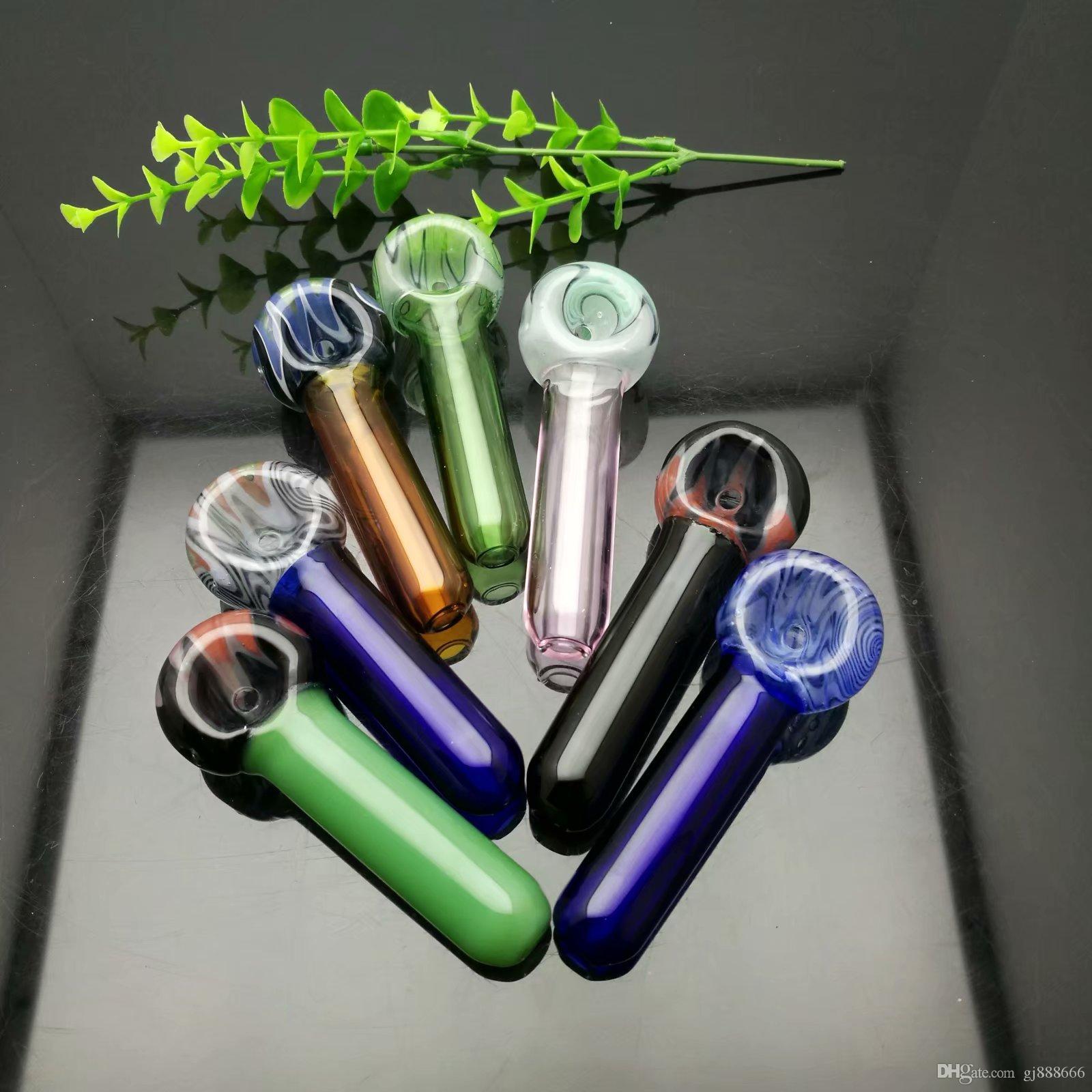 Renkli lolipop cam boru Toptan Cam Nargile, Cam Su Boru Bağlantı Parçaları, Sigara, Ücretsiz Kargo