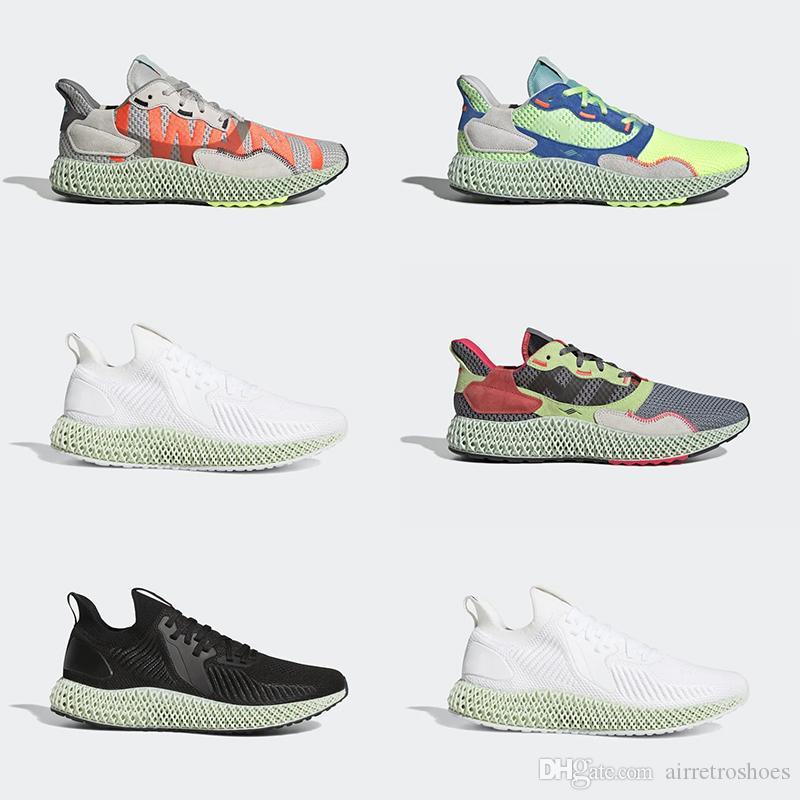 أعلى نوعية جديدة ALPHAEDGE أحذية ZX 4000 FutureCraft الاحذية الرجال الرجال BD7931 zx4000 مصمم مدرب الرياضة حذاء رياضة حجم 36-45