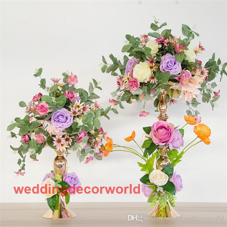 Düğün pencere dekor yapay çiçek topu ferforje çiçek T sahne sahne kurşun fotoğrafçılık sahne masa ana masa çiçekler vazo decor0626