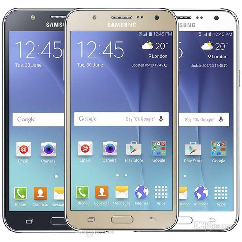 Recuperado Original Samsung Galaxy J7 J700F Dual SIM 5,5 polegadas tela LCD Octa Núcleo de 1,5 GB RAM 16GB ROM 13MP 4G LTE 30pcs DHL Celular