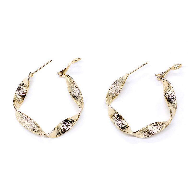 Cor do ouro prata redonda pequena Argola para Mulheres na moda de jóias por atacado brincos Mulheres Acessórios