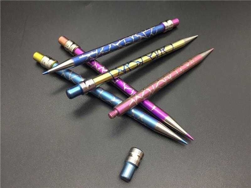 Nouveau design Titanium Dab Outil Domeless Crayon de couleur titane ongles avec du titane pour Dabber verre Pipes eau libre dhl