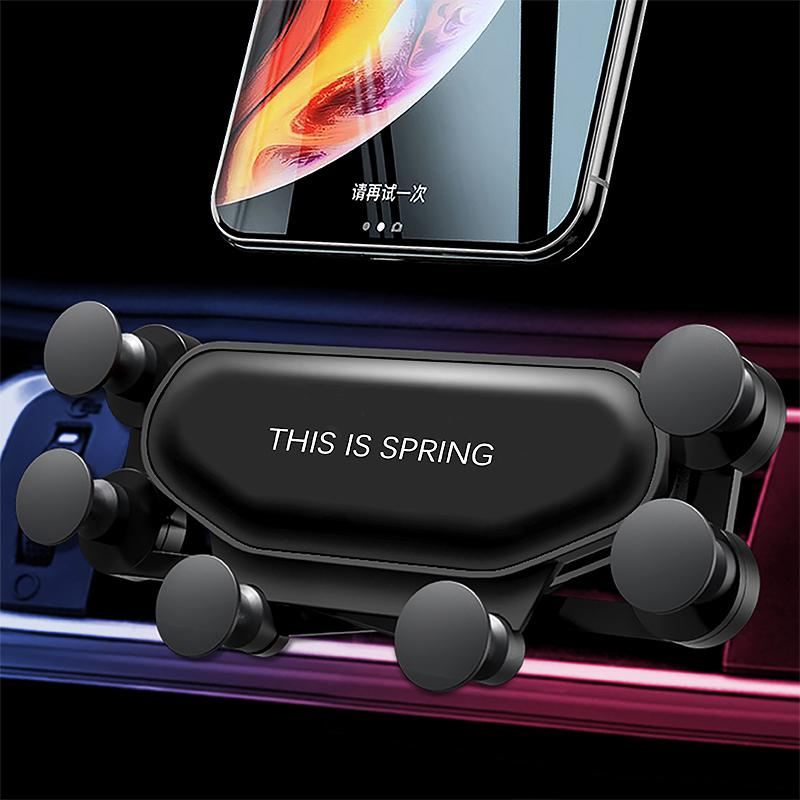 Universal Gravity Car Phone Holder clip Air Vent Mount Smartphone 360 Telefoonhouder Auto Voiture Suporte Celular Carro