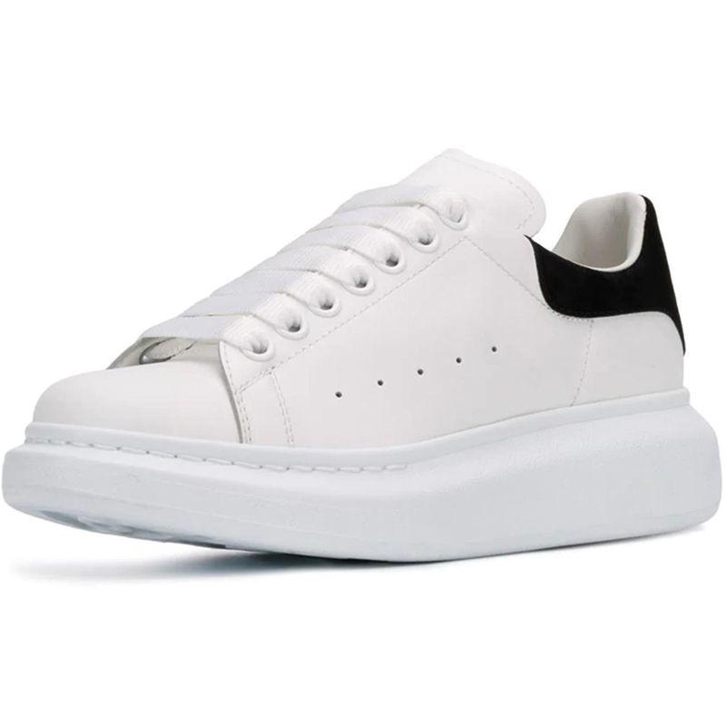 I nuovi uomini scarpe in pelle scamosciata Donne Fashion Casual Lace Up Tripler Piattaforma Sole scarpe da ginnastica bianche Nero Casual Scarpe
