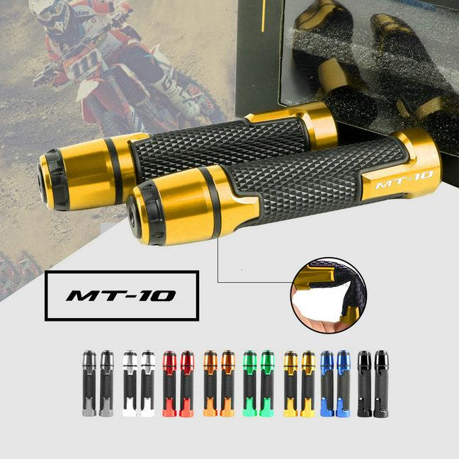 Motorcycle 7/8'' Handlebar End Plug Hand Grips Handle Bar For MT10 FZ10
