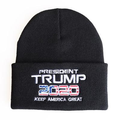 Premium Unisex Warm Knit USA American Flag Style Beanie Hat