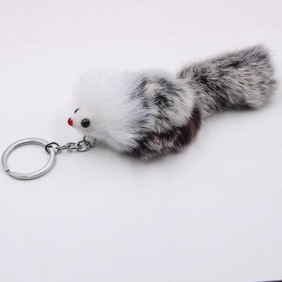 Freies DHL-europäische und amerikanische Wind Plüsch Kleine Fox Ornamente Mode Einfache Schlüsselanhänger Niedliche kleine Maus Keyfob Tasche Anhänger Schlüsselanhänger