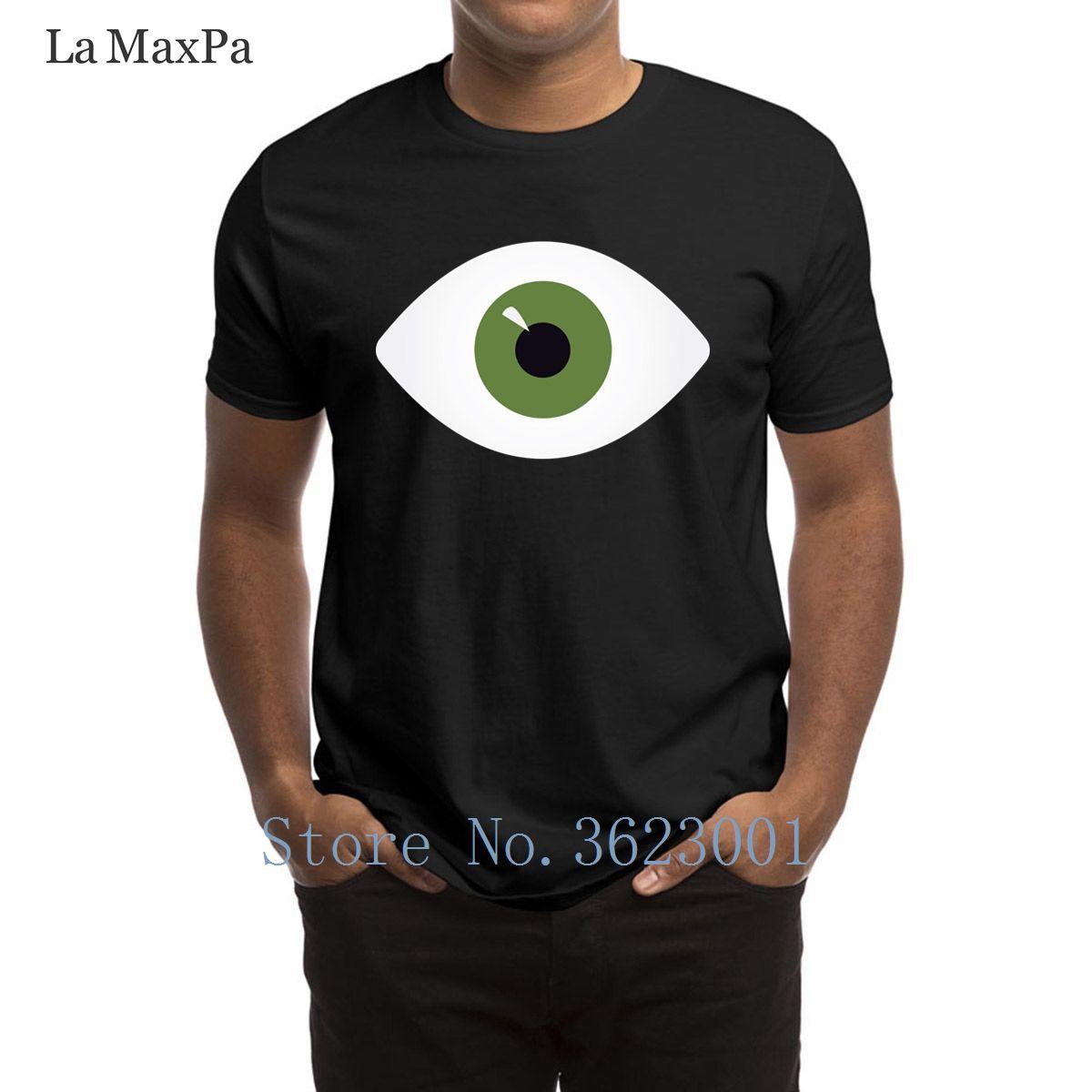Erstellen Sie cooles T-Shirt für Männer Eye Of Green Men-T-Shirt Spaß-Kleidung T-Shirt Mann-Super-Kurzarm-T-Shirt Hiphop Tops