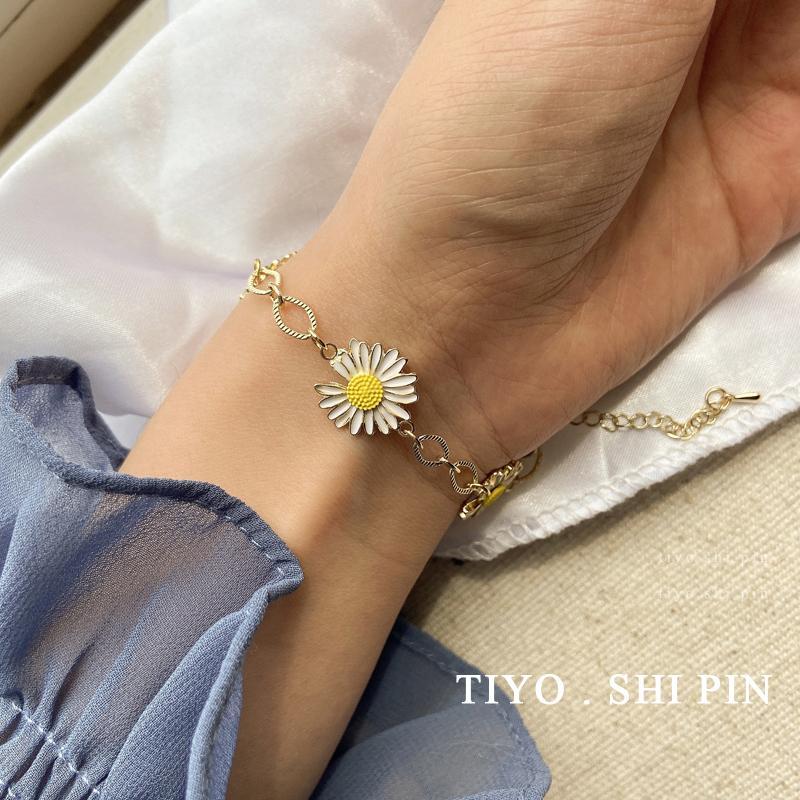G-drago con una piccola margherita braccialetto versione coreana del semplice braccialetto personalità femminile di tendenza instagram ornamenti fiore di mano