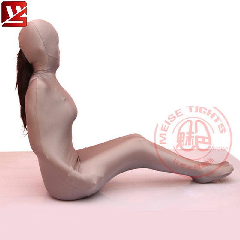 MEISE Cosplay Lycra Bayan Seksi Tüm Vücut Külotlu Çorap Koza Vücut Çoraplar Catsuit Bodysuit Erotik İç Gay Artı boyutu LY191222