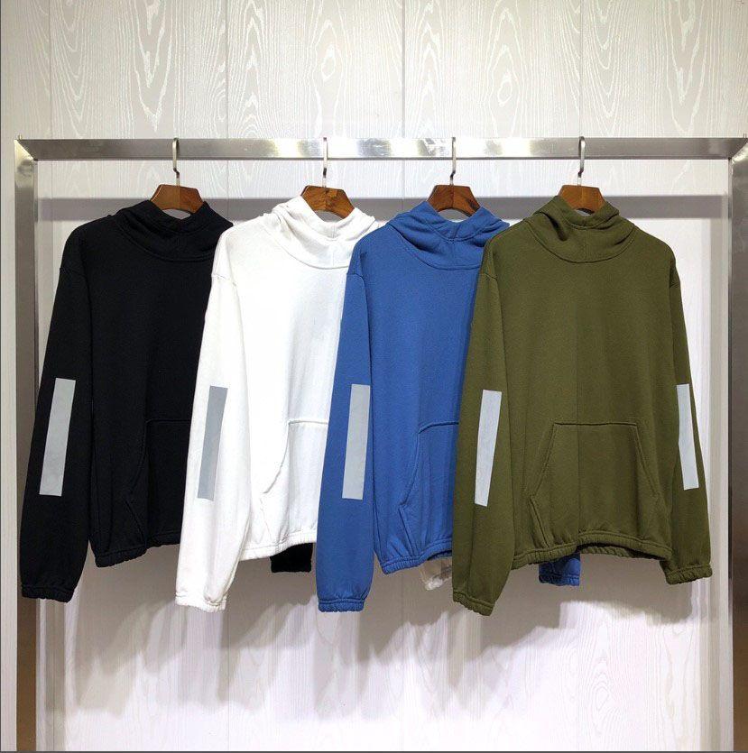 Diseñador de moda de Nueva Hombres sudadera con capucha de lujo para hombre de la camiseta de manga larga para hombre Reflect suéter mujer de marca luminosa de diseño con capucha 2020403Q