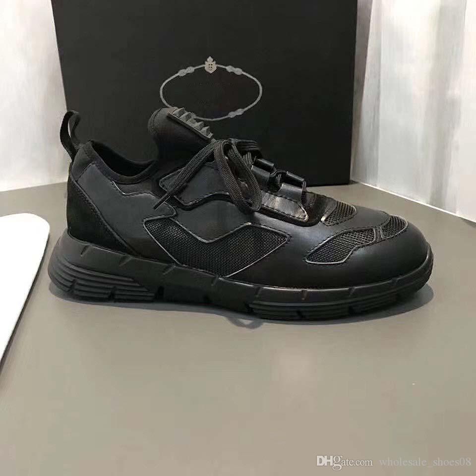 Freizeitschuhe Kissen Sole Velvet Schwarz Weiß Rot-echtes Leder-Plattform Männer Outdoor-Schuhe Fashion Weinlese-beiläufigen Espadrilles WD6