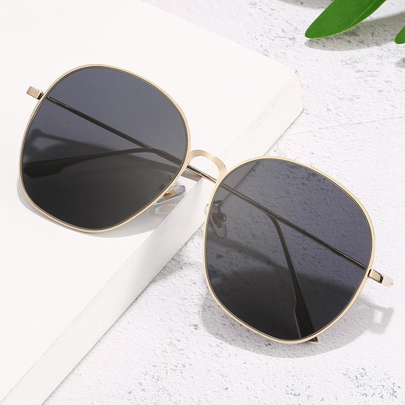 RETRO 2020 nuevos europeos y americanos de las gafas de gafas de sol redondas, metal de la manera de los hombres gafas de sol de alta calidad