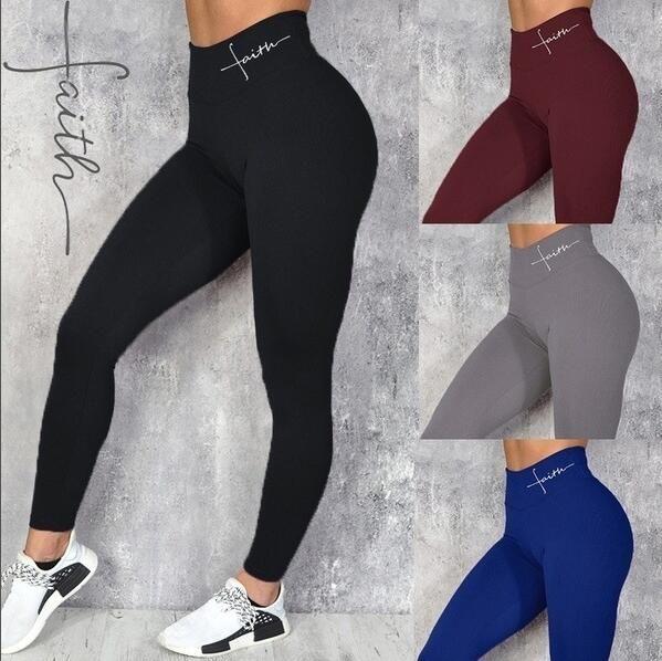 Sports frete grátis desgaste malha Yoga calças para mulheres de cintura alta Legging de Fitness Vestuário Feminino Fé ginástica do esporte Leggings Tights