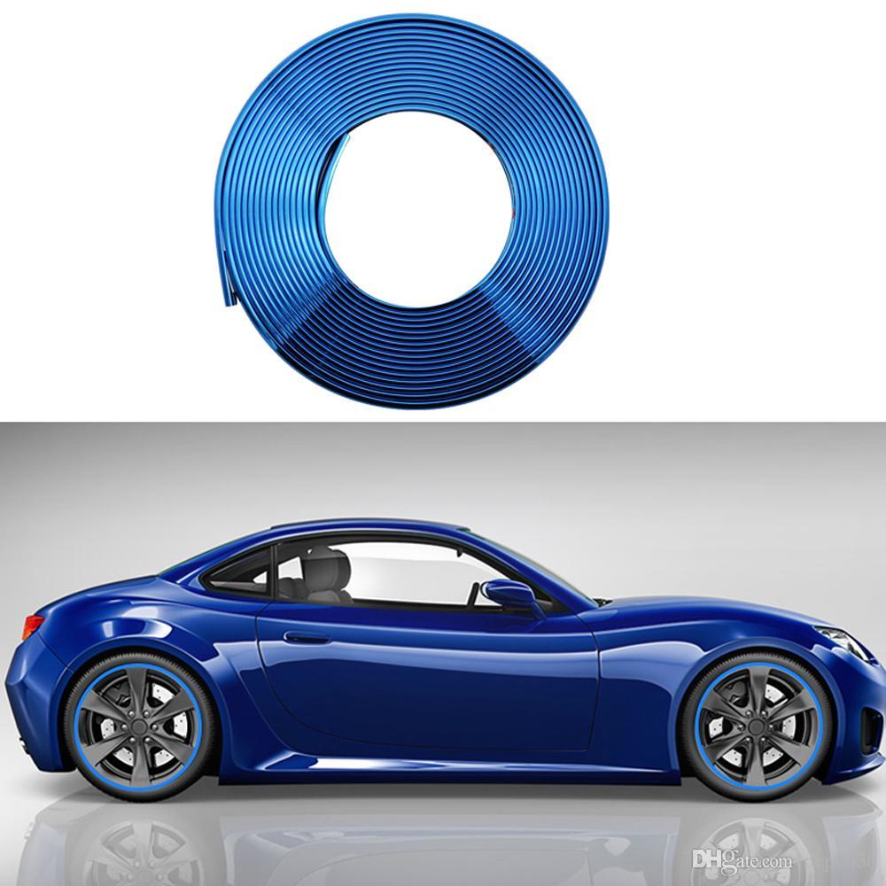 8M Глаз ловли синий автомобиль ступицы колеса обода края защитное кольцо шинная защита резиновая наклейка стайлинга автомобилей