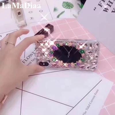 Luxury 3D Crystal Rhinestone Bling Back Case For Samsung S6 S7 S8 S9 S7edge S9Plus N5 N8 Fashion DIY Glitter Diamond Phone Cases