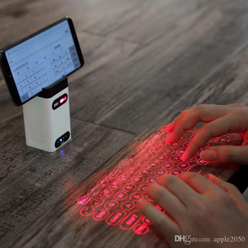 Ultime Virtual Keyboard proiezione laser Bluetooth tastiera laser con il mouse / Power Funzione banca per Android IOS Smart Phone PC NUOVO
