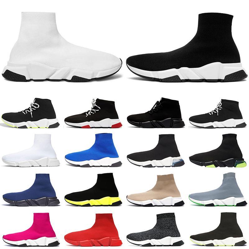 2020 sock shoes chaussette des chaussures de designer pour hommes femmes baskets de luxe hommes trainer runner Sneakers ancien chaussure tripler jaune bleu rose Graffiti
