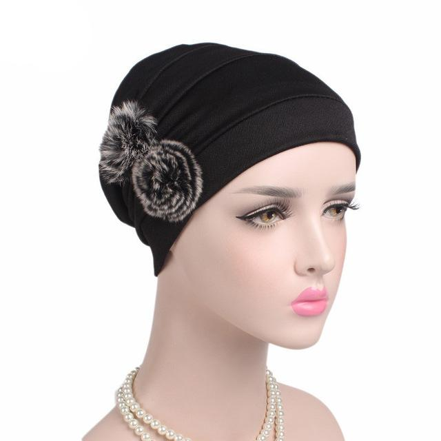 Frauen Muslim Baumwolle Art Turban Cap Chemotherapie Hut Cotton Falten Cap Turban Kopfbedeckung Mode