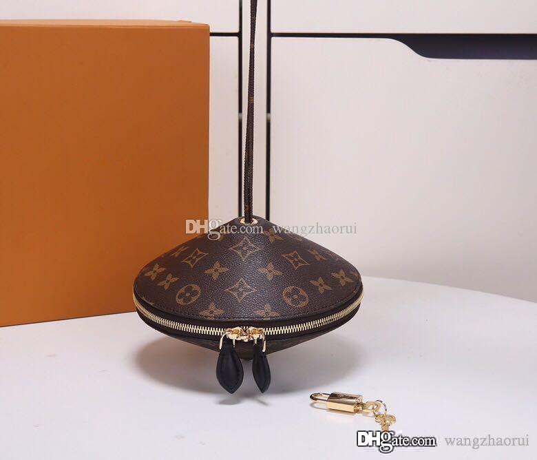 saco de doces Nicolas Ghesquière mulher toupie ombro bolsa para compras crossbody genuíno sacos de couro Messenger Bag Evening senhora bolsa com caixa