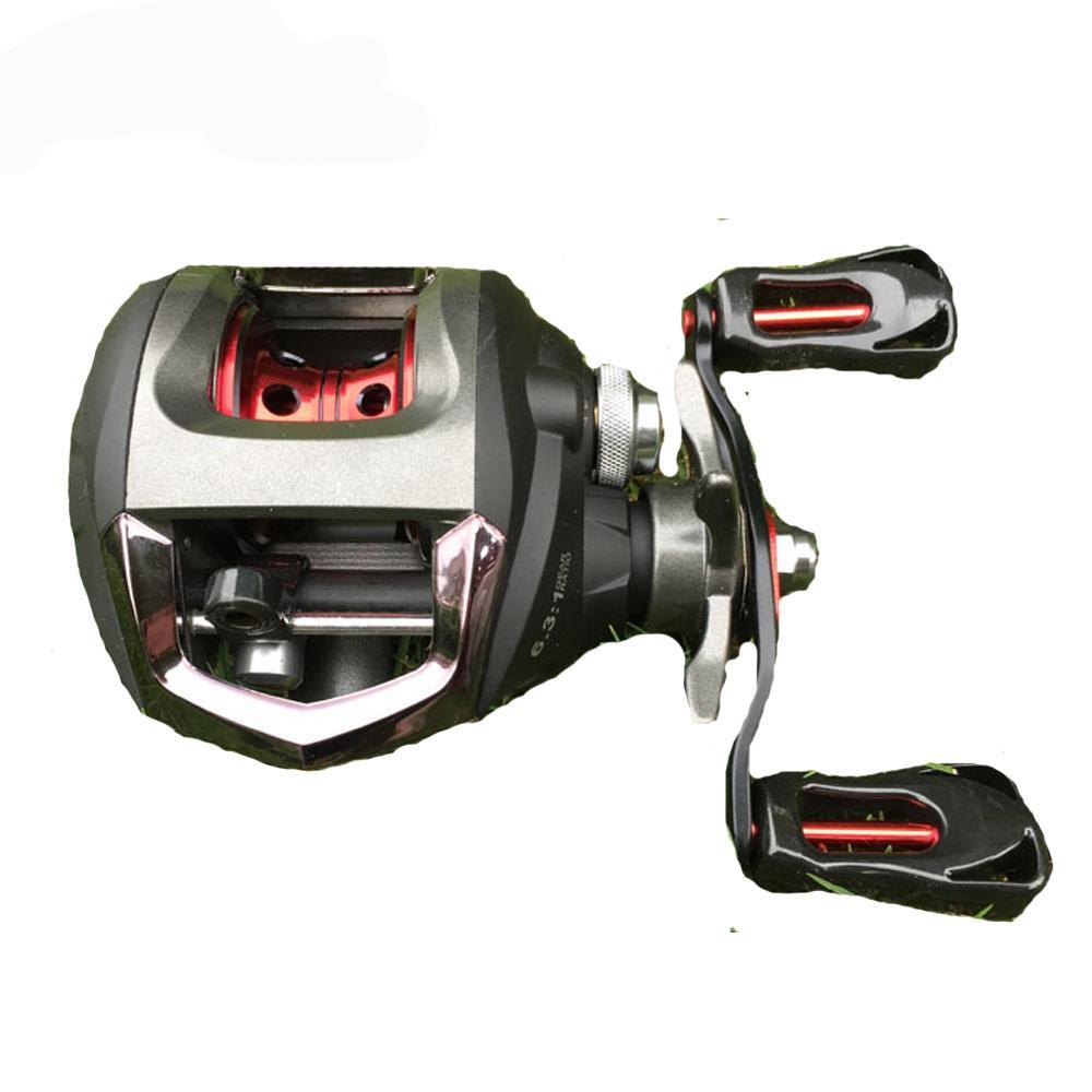 Rácio GFR20 Super Light 6.3: 1 Peche En Mer Baitcasting Pesca Reel 12BB isca de pesca Reel Alimentador Acessórios de pesca
