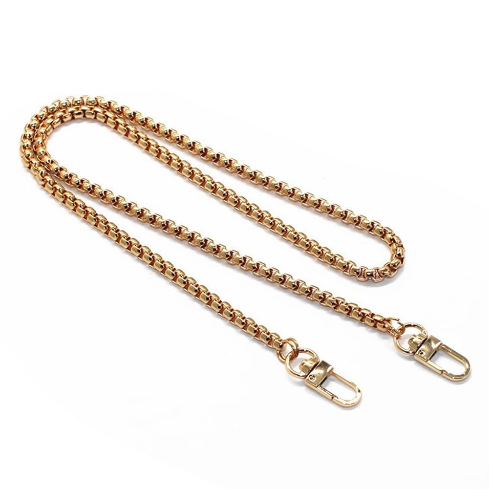 120cm Metal Cüzdan Çanta Askı Çanta Parçaları ile Toka Yedek Çanta Zincir Altın / Gümüş / Siyah 4pcs / lot