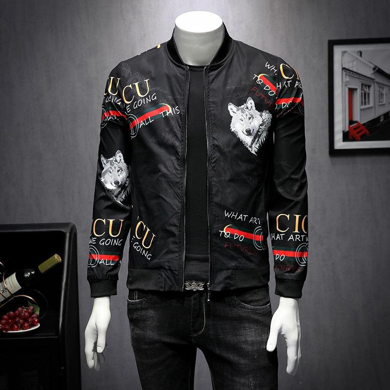 Moda negro chaquetas pie hombres del collar fino abrigos al aire libre de alta calidad a prueba de viento caliente diseñador chaquetas envío
