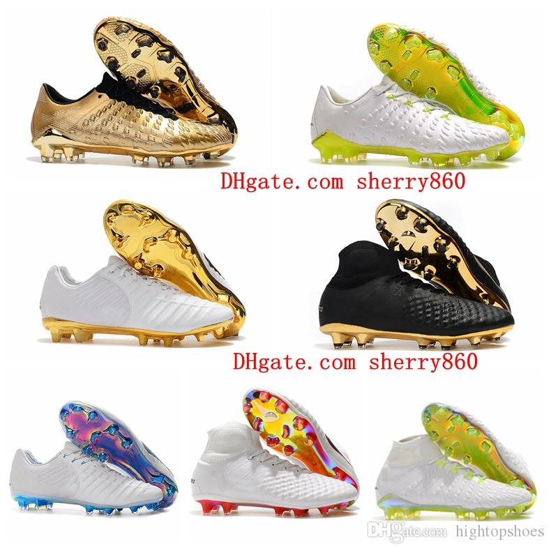 2018 futbol cleats kelime fincan Tiempo Legend VII FG en ucuz futbol ayakkabı Hypervenom Phantom III DF erkek futbol çizmeler Magista Obra II