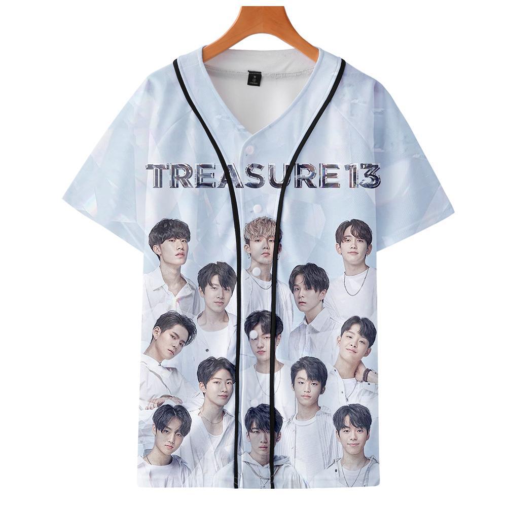 Treasure 13 Печать Бейсбольная куртка мужчин / женщин способа лета вскользь Harajuku мягкая с коротким рукавом Hot Sale Jacket