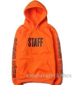 Brand Clothing Justin Bieber STAFF Purpose Tour Hoodies Mens Clothes Homme Sweatshirts Hiphop Rap Pullovers