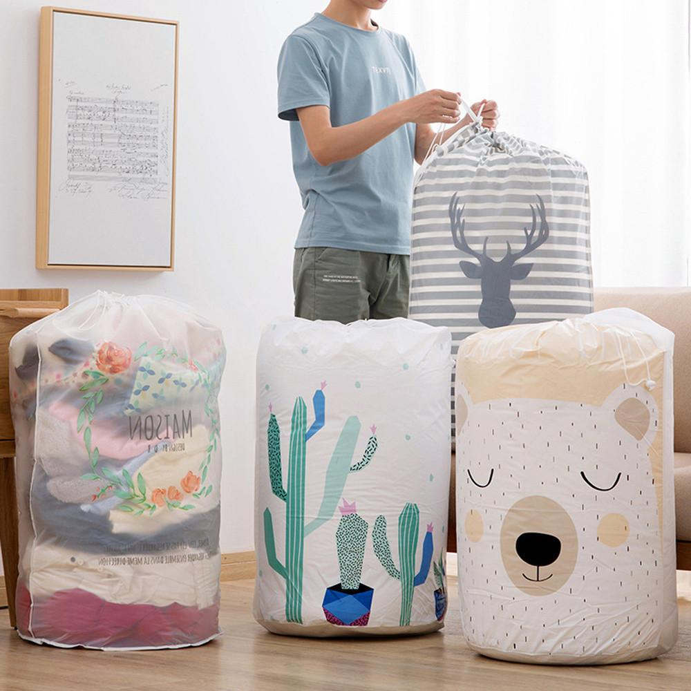 Home Foldable Storage Bag Clothes Blanket Quilt Closet Sweater Organizer Box Pouches 43x82cm Large Capacity Store Contaiiner