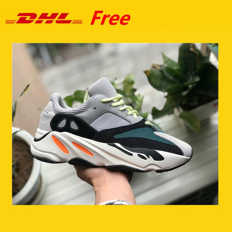 Dhl gratuit !!! Kanye West Runner 700 Bottes d'onde Hommes Femmes Basketball Chaussures de sport Chaussures de sport Chaussures de course Sneakers Eur 36-45 avec la boîte