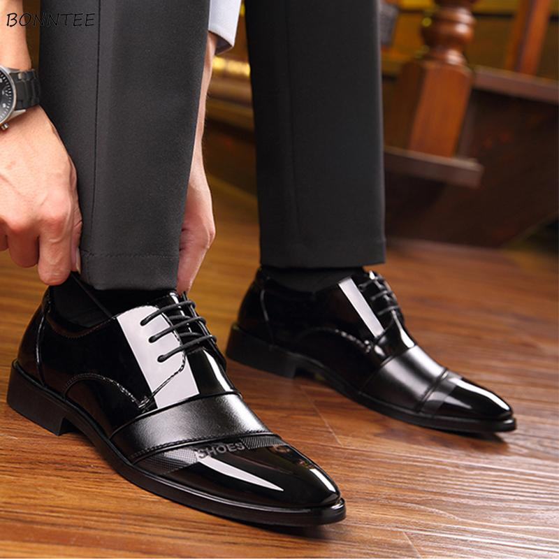 Men's Dress Shoes Korean Style All-match Trendy Daily Classic High Quality Working Shoe Men Deodorant Pointed Toe Simple Chic