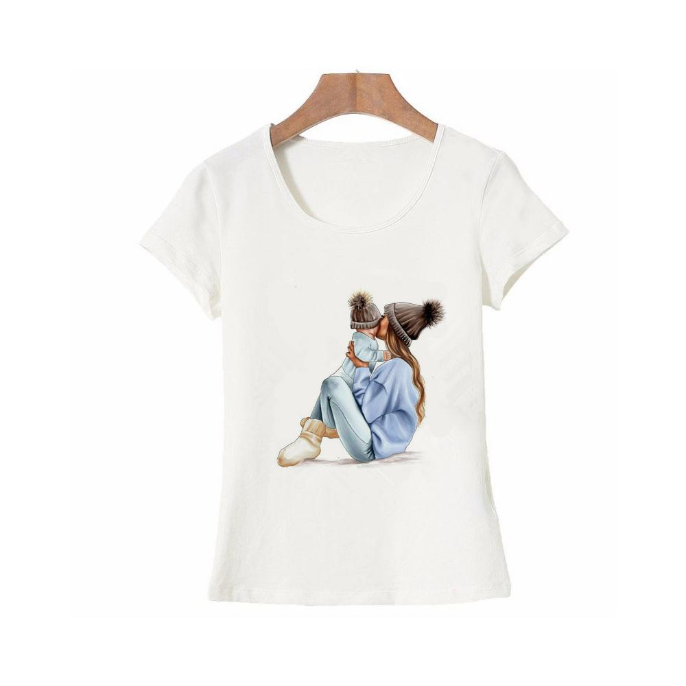 8b7325ed wholesale Mother's Love T Shirts Family Series Summer 2019 Funny T Shirt  Women White T-shirt Fashion Tee Shirt Femme Vogue