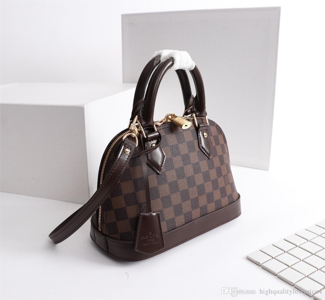 Hot klassische braune Buchstaben Frauentasche Mode für Männer Leder shouler Beutelgröße frei shippingM53152 25-19-12