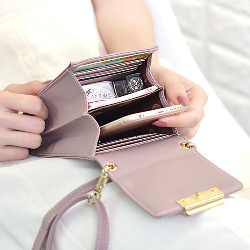 Марка Mini Crossbody мешок плеча высокого качества женщин сотовый телефон карман дамы кошелек моды сцепления кожа Застежка сумки Женский MX200324