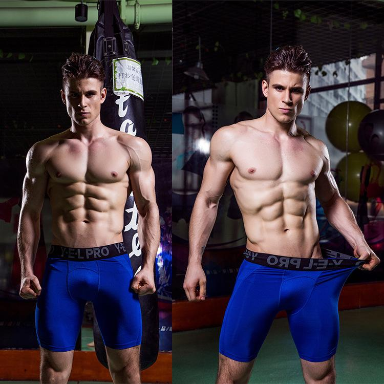 Muscleguys Men Compression Shorts Base Layer Thermal Skin Bermuda Shorts Gyms Fitness Men Cossfit Bodybuilding Tight Shorts