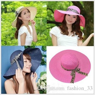 Wide Brim Floppy Fold Sun Hat Summer Hats for Women Out Door Sun Protection Straw Hat Women Beach Hat YD0101